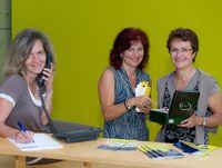 Team Ticketservice: Helga Müller, Hildegard Schwarzmüller und Ulrike Hierl